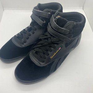 Reebok hi velvet 2 trainers sneakers-black-sz 5